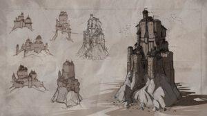 Koncept ilustrace pevnosti